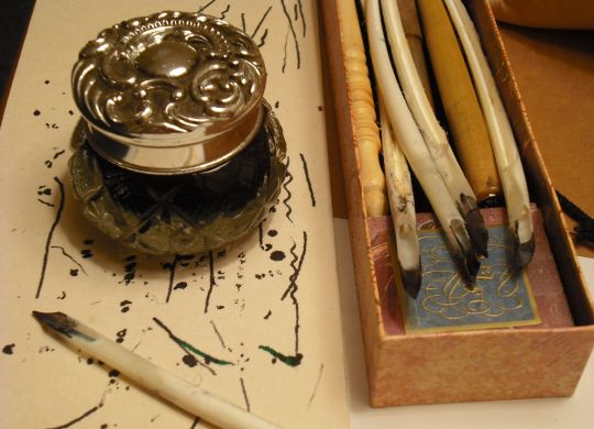jar and quills