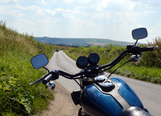 old-harley-country-road